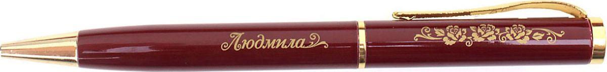Ручка шариковая Людмила цвет корпуса бордовый608202Хотите сделать по-настоящему индивидуальный подарок? Тогда вам непременно понравится стильная и удобная именная ручка Людмила. Выполненная в насыщенном бордовом цвете с золотистой гравировкой, она станет достойным дополнением образа своей обладательницы.Поворотный механизм надежен и удобен в повседневном использовании - ручка не откроется случайно и не оставит чернильных пятен на одежде. Мягкий бархатный мешочек придает изделию неповторимый шарм, делая его желанным подарком.