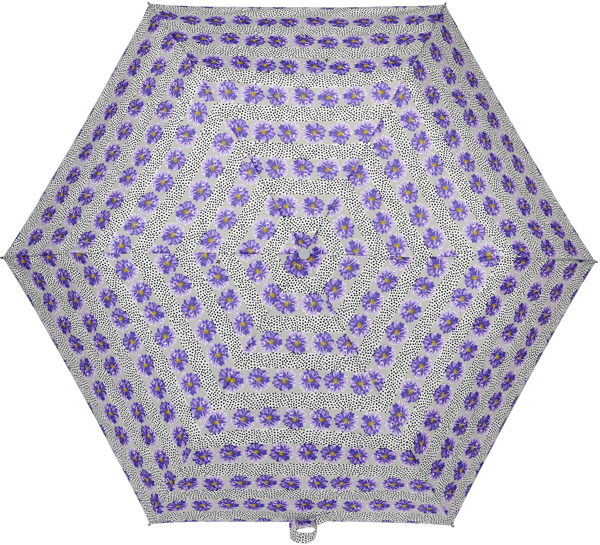 Зонт женский Fulton, механический, 3 сложения, цвет: светло-серый, сиреневый. L553-337445100738/18076/4D00NСтильный механический зонт Fulton имеет 3 сложения, даже в ненастную погоду позволит вам оставаться стильной. Легкий, но в тоже время прочный алюминиевый каркас состоит из восьми спиц с элементами из фибергласса. Купол зонта выполнен из прочного полиэстера с водоотталкивающей пропиткой. Рукоятка закругленной формы, разработанная с учетом требований эргономики, выполнена из каучука. Зонт имеет механический способ сложения: и купол, и стержень открываются и закрываются вручную до характерного щелчка.
