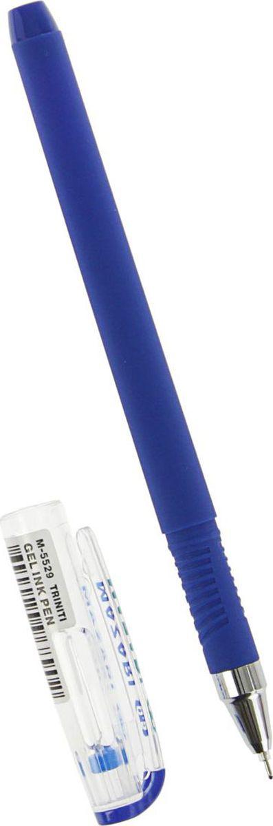 Ручка гелевая Mazari Triniti, узел 0.5мм, синие чернила, игольчатый пишущий узел, покрытие Soft поможет организовать ваше рабочее пространство и время. Изделия данной категории необходимы любому человеку независимо от рода его деятельности.