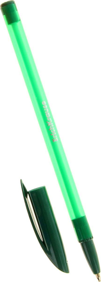 Erich Krause Ручка шариковая R-101 EK зеленая1037334Удобная шариковая ручка Erich Krause R-101 EK имеет прозрачный пластиковый корпус, сквозь который всегда виден запас чернил. Цвет вентилируемого колпачка и клипа соответствует цвету чернил. Пишущий узел обеспечивает четкое письмо. Сменный стержень.