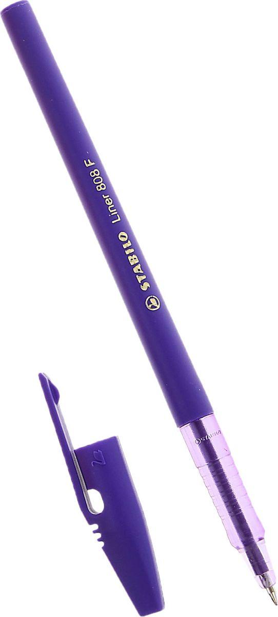 STABILO Ручка шариковая Liner 808 цвет чернил фиолетовый72523WDШариковая ручка STABILO Liner с заменяемым стержнем - удобный и практичный инструмент, отличающийся надежностью и длительностью письма. Специальная технология фиксирования пишущего шарика защищает от утечки чернил, обеспечивает тонкую аккуратную линию и мягкое скольжение.