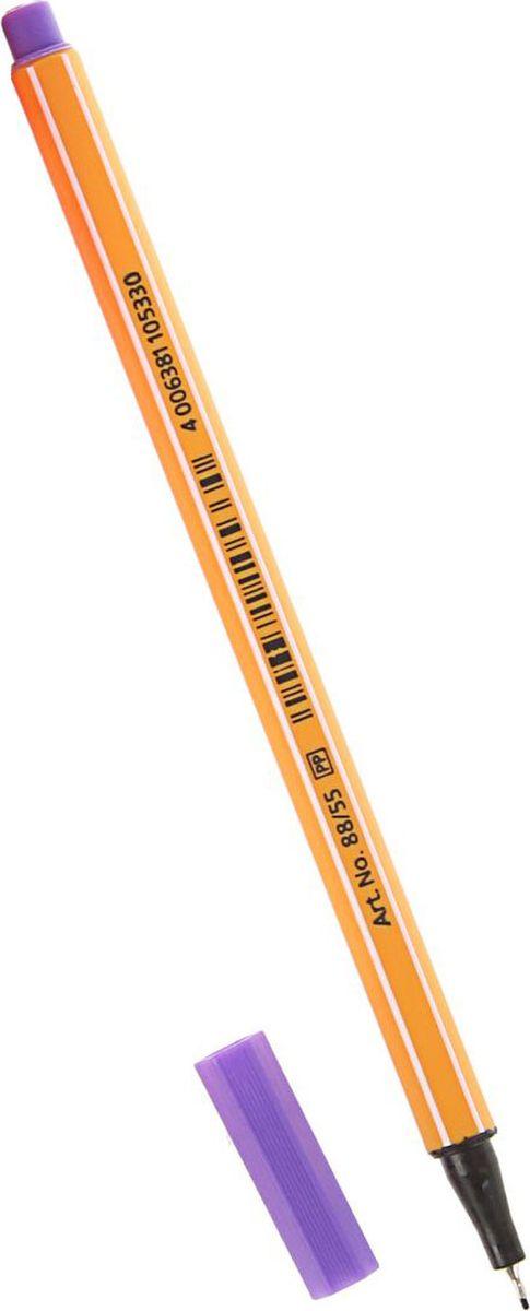 STABILO Ручка капиллярная Point 88 цвет чернил фиолетовый72523WDКапиллярная ручка STABILO point 88 идеально подходит для легкого и мягкого письма, черчения, рисования и раскрашивания. Металлический фиксатор наконечника дает возможность работать с линейками и трафаретами. Высокое качество и большой запас чернил существенно увеличивают срок службы ручки. Чернила на водной основе. Цвет колпачка соответствует цвету пасты. Толщина линии 0,4 мм.