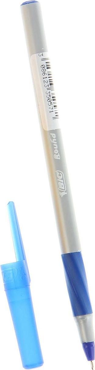 BIC Ручка шариковая Round Stic Exact синяя72523WDКанцелярские принадлежности BIC известны во всем мире благодаря неизменно высокому качеству и простоте в использовании. Шариковая ручка BIC серии Round Stic Exact с диаметром шарика 0,7 мм обладает прорезиненным грифом, выполнена в пластиковом корпусе серого цвета с синими вставками. Особенности: новый остроконечный пишущий узел Round Stic Exact с технологией более гладкого скольжения по поверхности позволяет чертить красивые тонкие линии толщиной 0,35 мм. Шариковая ручка является одноразовой, сменных стержней нет.