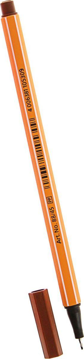 STABILO Ручка капиллярная Point 88 цвет чернил коричневый1454551Капиллярная ручка STABILO Point 88 идеально подходит для легкого и мягкого письма, черчения, рисования и раскрашивания.Металлический фиксатор наконечника дает возможность работать с линейками и трафаретами. Высокое качество и большой запас чернил существенно увеличивают срок службы ручки. Чернила на водной основе.Цвет колпачка соответствует цвету пасты. Толщина линии - 0,4 мм.