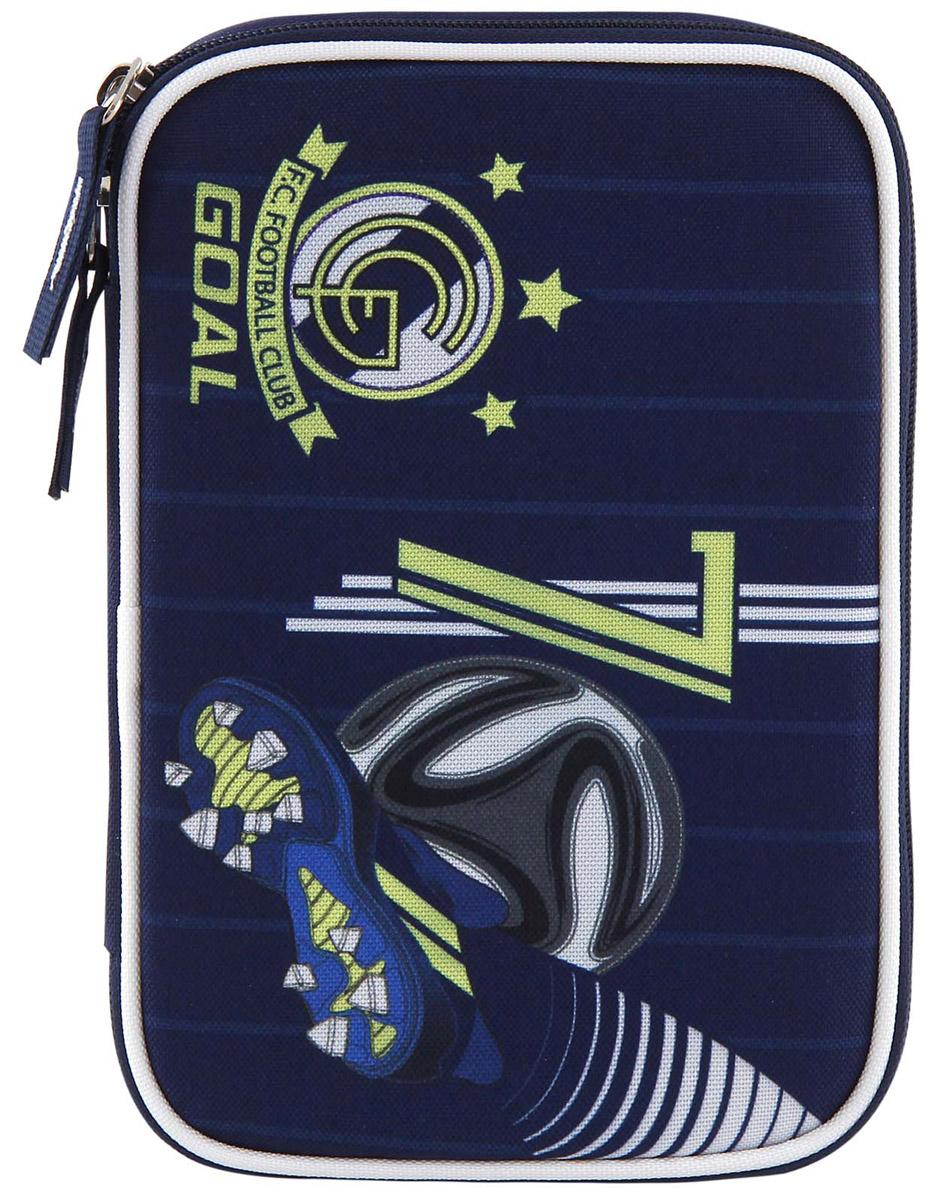 Target Collection Пенал FC Real Madrid с наполнением72523WDПенал Target Collection FC Real Madrid станет не только практичным, но и стильным школьным аксессуаром.Пенал очень вместительный и с ярким дизайном. Состоит из одного отделения на молнии с откидной плотной створкой. В наполнение пенала входит: 3 шариковых ручки, 2 черно-графитных карандаша, 12 цветных карандашей бренда FILA (Италия), 12 фломастеров бренда FILA (Италия), ластик, точилка, клей и ножницы.Такой пенал станет незаменимым помощником для школьника, с ним ручки и карандаши всегда будут под рукой и больше не потеряются.
