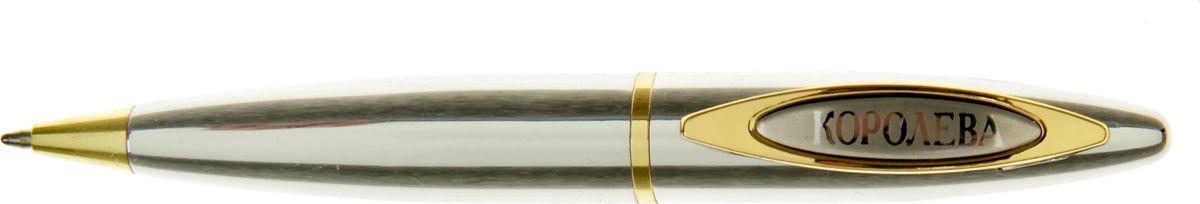 Ручка шариковая Королева красоты синяя72523WDОчаровательные подарки не обязательно должны быть большими. Порой, достаточно всего лишь письменной ручки. Она давно стала незаменимым аксессуаром, который должен быть в сумочке каждой девушки. Наша уникальная разработка Ручка Королева красоты придется по вкусу любой ценительнице прекрасных и функциональных аксессуаров. Сочетая в себе два классических цвета – золотистый и серебряный, с эффектной гравировкой и удобным поворотным механизмом, она становится одним из лучших подарков по поводу и без.