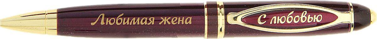 Ручка шариковая Любимая жена синяя 732958FS-36054Считаете, что презент для любимой женщины должен быть не только красивым, но и полезным? Ручка в подарочной упаковке из искусственной экокожи с золотым нанесением Любимая жена - именно такой аксессуар. Она поможет записать планы, разгадать кроссворд, записаться в салон красоты и многое другое, что может понадобиться вашей спутнице жизни. Шариковая ручка выполнена в бордовом металлическом лакированном корпусе. Оригинальный дизайн ручки дополняют блестящие золотистые детали и теплая надпись. Подача стержня осуществляется посредством механизма поворотного действия. Она поможет вам выразить вашу любовь и передать все нежные чувства, которые вы испытываете к близкому человеку.