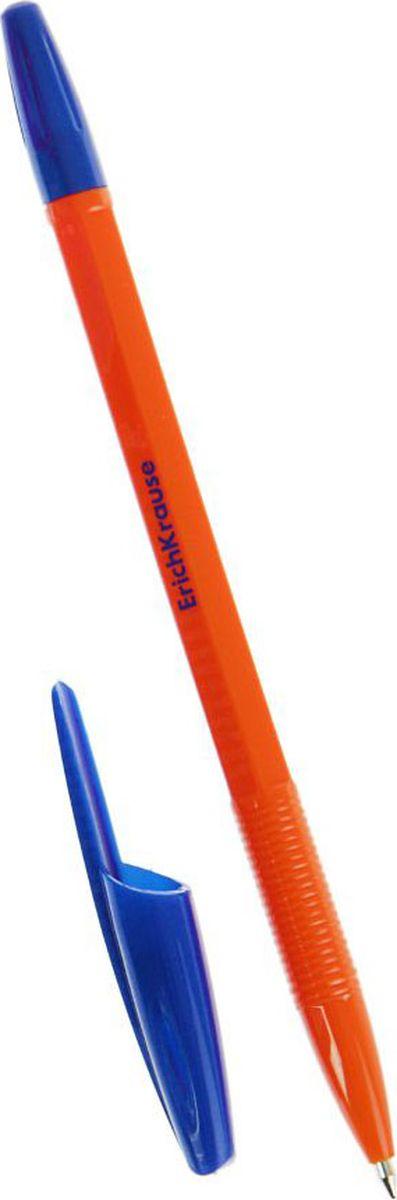 Erich Krause Ручка шариковая R-301 Orange EK синяя789566Удобная шариковая ручка Erich Krause эконом класса. Цвет вентилируемого колпачка и клипа соответствует цвету чернил. Пишущий узел 0. 7 мм обеспечивает четкое письмо. Сменный стержень. Рекомендуется использовать стержень Erich Krause R-301.