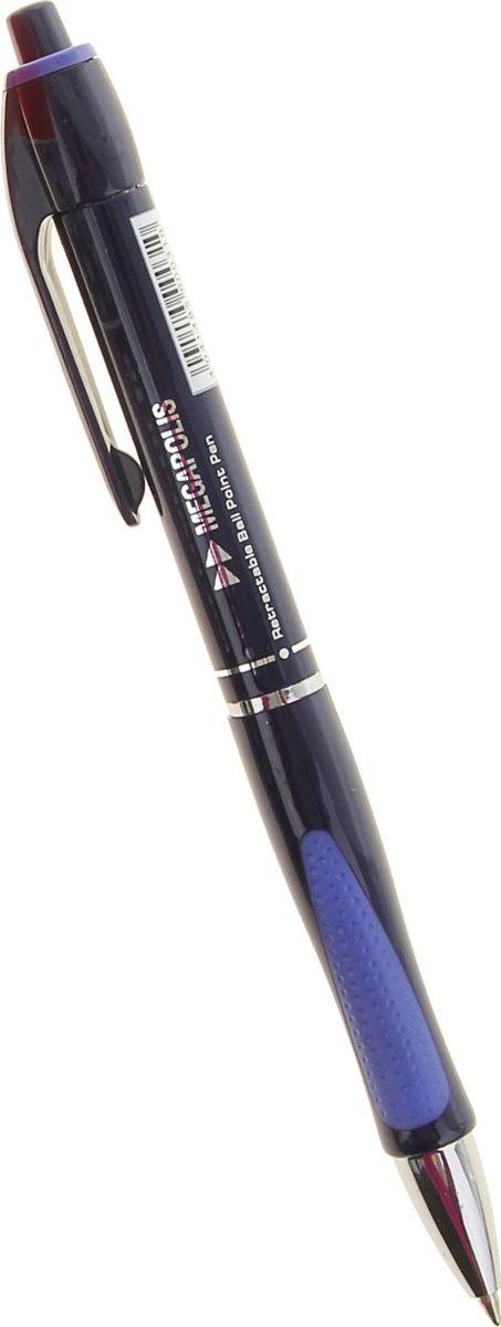 Erich Krause Ручка шариковая Megapolis Concept EK 31 синяя0703415Автоматическая шариковая ручка с металлизированным наконечником. Корпус из непрозрачного пластика. Пишущий узел 0. 7 мм обеспечивает чистое и четкое письмо, а мягкий резиновый грип препятствует скольжению пальцев при письме и позволяет ручке удобнее лежать в руке. Сменный стержень. Рекомендуется использовать стержень Erich Krause XR-30.