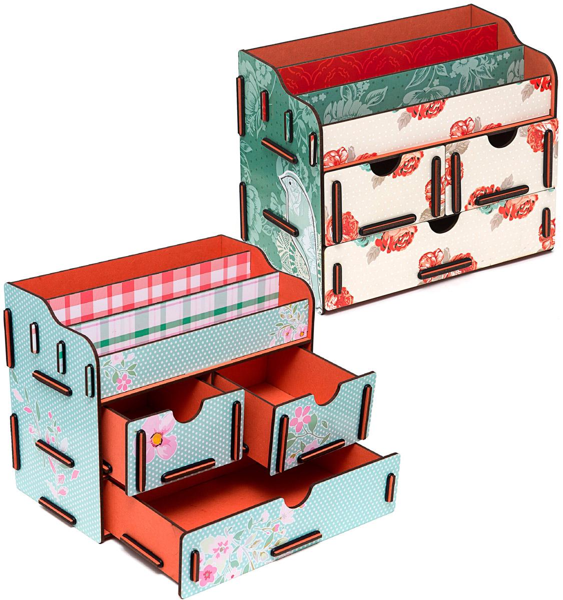 Набор шкатулок Homsu Аромат весенних цветов, для украшений, 2 штFS-80299Этот комплект из оригинальных сундучков имеет множество полочек сверху для хранения косметики, парфюмерии и аксессуаров, а также два маленьких ящичка размером 11см на 14,5см и один большой ящик размером 22см на 14,5см, которые позволят разместить в них все самое необходимое и сокровенное для каждой женщины. Шкатулочки можно поставить на стол, они станут отличным дополнением интерьера. 240х140х190; 240х140х190