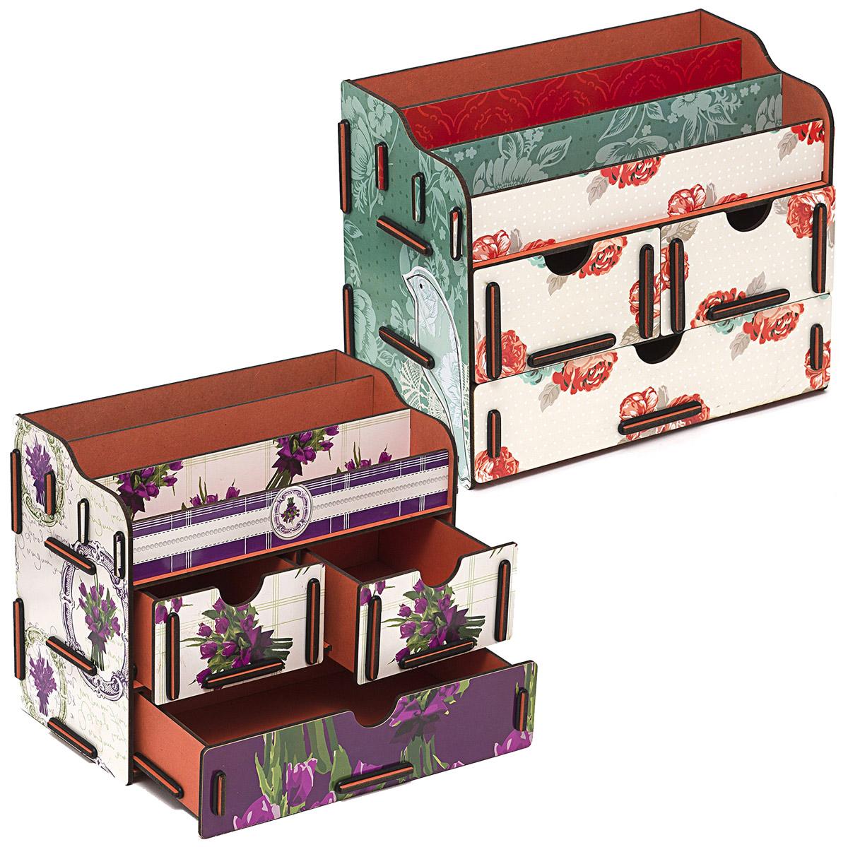 Набор шкатулок Homsu Все оттенки прекрасного, для украшений, 2 шт41619Набор шкатулок Homsu  Все оттенки прекрасного, выполненный из МДФ,состоит из оригинальных сундучков и имеет множество полочек сверху для хранения косметики, парфюмерии и аксессуаров, а также два маленьких ящичка и один большой ящик, которые позволят разместить в них все самое необходимое и сокровенное для каждой женщины. Шкатулочки можно поставить на стол, они станут отличным дополнением интерьера.