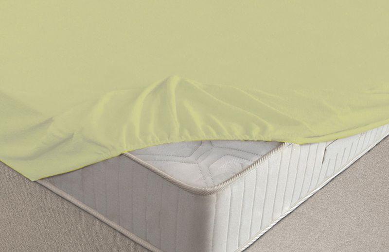 Простыня на резинке Ecotex, махровая, цвет: салатовый, 140 х 200 смU зеленМахровая простыня Ecotex на резинке сшита из высококачественного махрового полотна, окрашена стойким экологически безопасным красителем. Имеет резинку по всему периметру, что даёт возможность надежно зафиксировать простыню на матрасе, тем самым создавая здоровый и комфортный сон.Выполнена из 100% хлопка и не содержит синтетических добавок.Натяжные махровые простыни довольно практичны, так как махровое полотно долговечно.Размер простыни: 140 x 200 см.