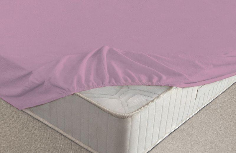 Простыня на резинке Ecotex, махровая, цвет: фиолетовый, 160 х 200 см531-105Махровые простыни на резинке сшиты из высококачественного махрового полотна, окрашены стойкими экологически безопасными красителями. Они уже успели завоевать признание потребителей благодаря своим практичным характеристикам. Имеют резинку по всему периметру, что даёт возможность надежно зафиксировать простыню на матрасе, тем самым создавая здоровый и комфортный сон. Натяжные махровые простыни довольно практичны, т.к. махровое полотно долговечно. Выолнены из 100% хлопка и не содержат синтетических добавок.