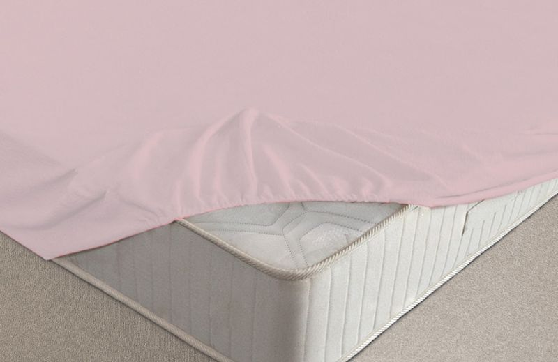 Простыня на резинке Ecotex, махровая, цвет: розовый, 180 х 200 смES-412Махровые простыни на резинке сшиты из высококачественного махрового полотна, окрашены стойкими экологически безопасными красителями. Они уже успели завоевать признание потребителей благодаря своим практичным характеристикам. Имеют резинку по всему периметру, что даёт возможность надежно зафиксировать простыню на матрасе, тем самым создавая здоровый и комфортный сон. Натяжные махровые простыни довольно практичны, т.к. махровое полотно долговечно. Выолнены из 100% хлопка и не содержат синтетических добавок.