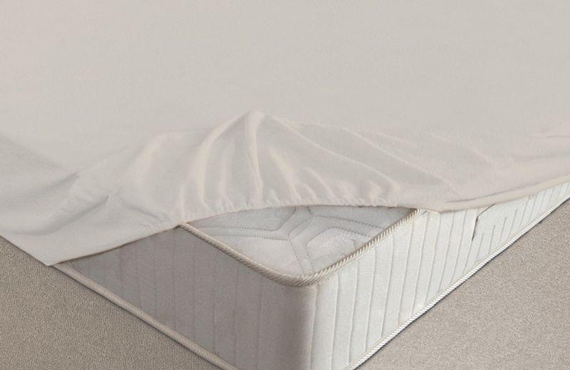 Простыня на резинке Ecotex, махровая, цвет: молочный, 200 х 200 см531-401Махровые простыни на резинке сшиты из высококачественного махрового полотна, окрашены стойкими экологически безопасными красителями. Они уже успели завоевать признание потребителей благодаря своим практичным характеристикам. Имеют резинку по всему периметру, что даёт возможность надежно зафиксировать простыню на матрасе, тем самым создавая здоровый и комфортный сон. Натяжные махровые простыни довольно практичны, т.к. махровое полотно долговечно. Выолнены из 100% хлопка и не содержат синтетических добавок.