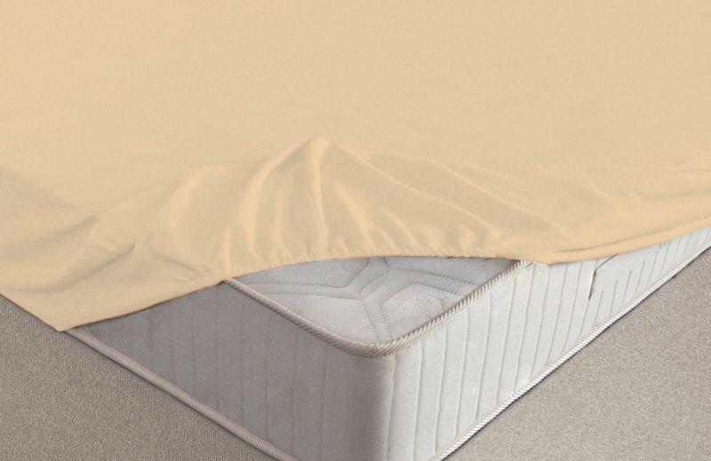 Простыня на резинке Ecotex, махровая, цвет: персиковый, 200 х 200 смWUB 5647 weisМахровые простыни на резинке сшиты из высококачественного махрового полотна, окрашены стойкими экологически безопасными красителями. Они уже успели завоевать признание потребителей благодаря своим практичным характеристикам. Имеют резинку по всему периметру, что даёт возможность надежно зафиксировать простыню на матрасе, тем самым создавая здоровый и комфортный сон. Натяжные махровые простыни довольно практичны, т.к. махровое полотно долговечно. Выолнены из 100% хлопка и не содержат синтетических добавок.