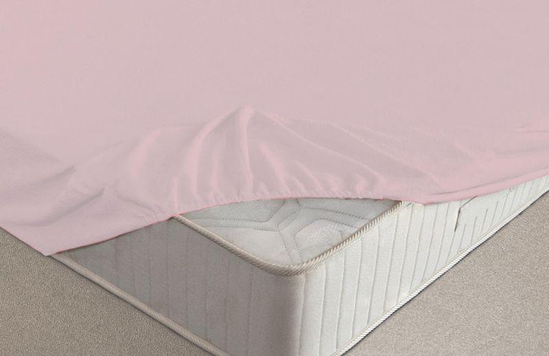 Простыня на резинке Ecotex, махровая, цвет: розовый, 200 х 200 см531-105Махровые простыни на резинке сшиты из высококачественного махрового полотна, окрашены стойкими экологически безопасными красителями. Они уже успели завоевать признание потребителей благодаря своим практичным характеристикам. Имеют резинку по всему периметру, что даёт возможность надежно зафиксировать простыню на матрасе, тем самым создавая здоровый и комфортный сон. Натяжные махровые простыни довольно практичны, т.к. махровое полотно долговечно. Выолнены из 100% хлопка и не содержат синтетических добавок.