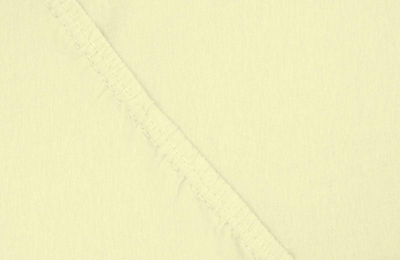 Простыня на резинке Ecotex, цвет: желтый, 160 х 200 смWUB 5647 weisЗдоровый сон – залог хорошего самочувствия на протяжении всего дня. Простыня на резинке по всему периметру – это очень удобно! Она всегда ровно, без единой морщинки, застилает матрас. Легко заправляется и фиксируется с помощью «юбки» с резинкой по всему периметру. Нежное прикосновение к телу бархатного на ощупь хлопка, мягкая фактура ткани – вот основное преимущество трикотажных простыней на резинке. Они практичны в уходе, не требуют глажения после стирки, мягкие, экологичные, защищают матрас от загрязнений.