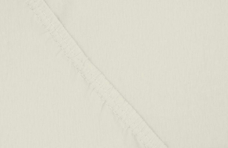 Простыня на резинке Ecotex, цвет: слоновая кость, 180 х 200 см16050Простыня на резинке по всему периметру - это очень удобно! Она всегда ровно, без единой морщинки, застилает матрас. Легко заправляется и фиксируется с помощью юбки с резинкой по всему периметру.Нежное прикосновение к телу бархатного на ощупь хлопка, мягкая фактура ткани - вот основное преимущество трикотажных простыней на резинке. Они практичны в уходе, не требуют глажения после стирки, мягкие, экологичные, защищают матрас от загрязнений.Размер простыни: 180 x 200 см.