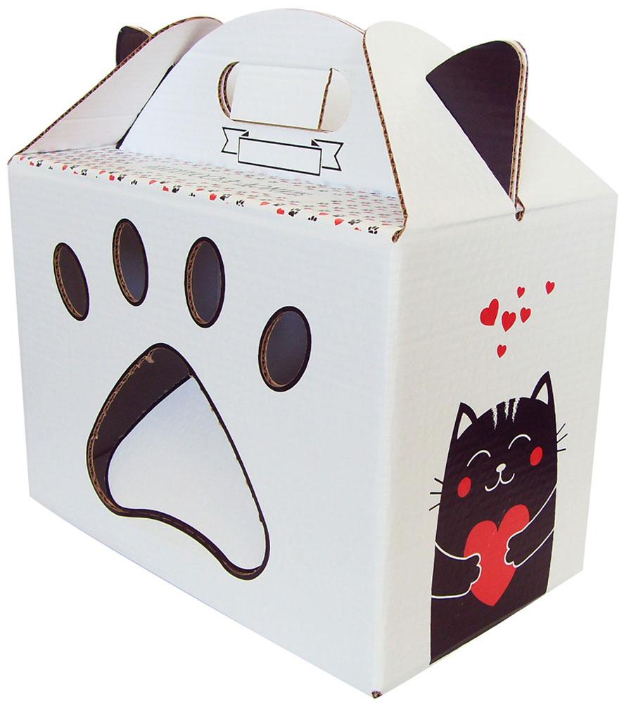 Переноска-домик для кошек Ешкин кот, цвет: белый, черный, 36 х 20 х 36 см0120710Всем давно известно, что кошки очень любят картонные коробки! Такую привязанность к бумаге объясняют следующим образом: она хранит аромат, уют и тепло дерева. А кошка неравнодушна к дереву, ведь оно напоминает ей о дикой природе.Переноска-домик для кошек Ешкин кот не создает статического электричества в следствие чего шерсть не электризуется.Размер: 36 х 20 х 36 см