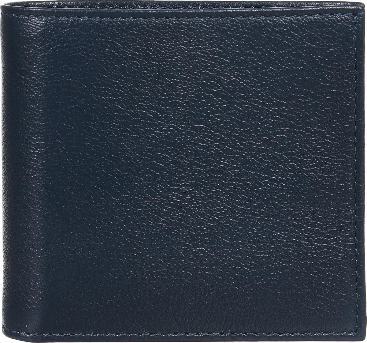 Портмоне мужское Befler Грейд, цвет: темно-синий. PM.22.-91-022_516Портмоне Befler Грейд выполнено из натуральной кожи зернистой текстуры. Закрывается на кнопку. Внутри расположено 1 отделение для купюр, карман для кредитной карты, 2 скрытых кармана, карман для мелочи, закрывающийся на кнопку.