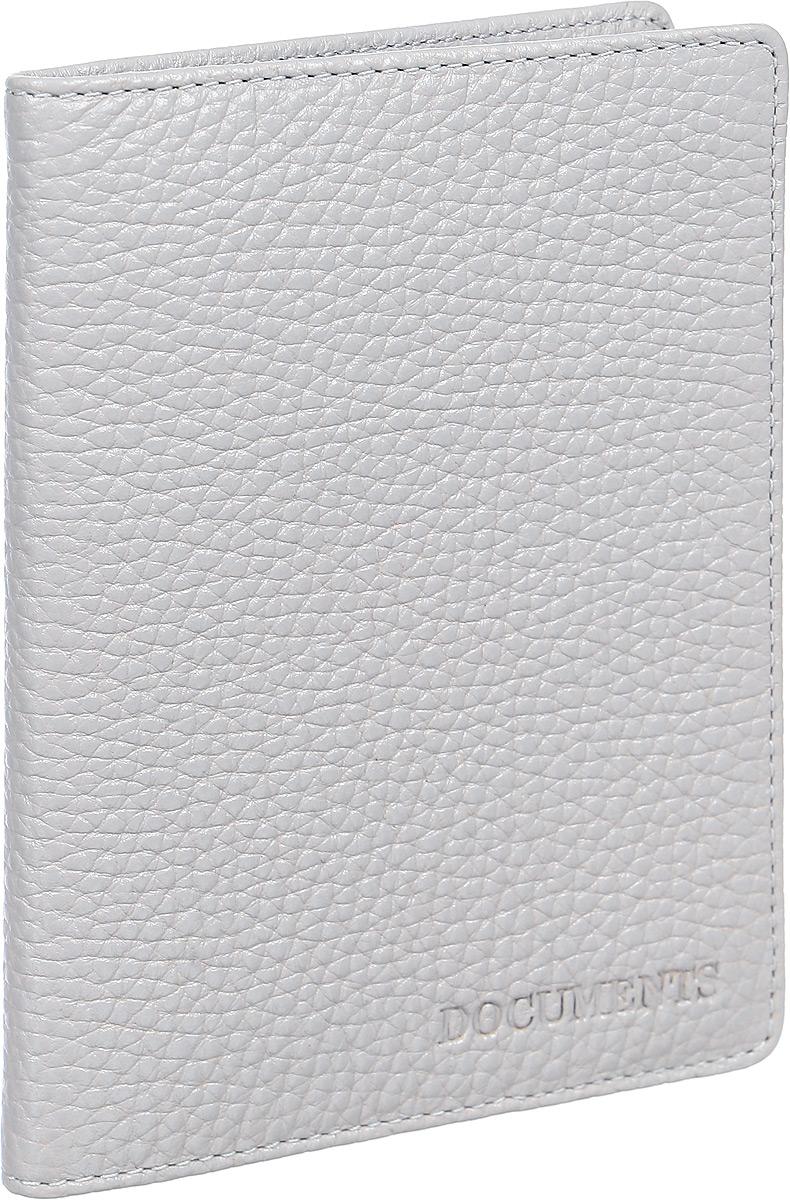Бумажник водителя женский Fabula Solo, цвет: светло-серый. BV.78.RKINT-06501Бумажник водителя из коллекции «Solo» выполнен из натуральной зернистой кожи.Внутри 6 блоков из прозрачного пластика для документов водителя.