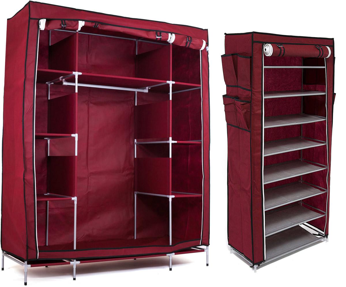 Набор кофров для хранения Homsu, цвет: бордовый, 2 шт1004900000360Уникальный дизайн этого комплекта станет настоящим украшением для любого интерьера. Практичная составляющая подобной мебели также вне сомнений. Лёгкие и прочные устойчивые конструкции из каркасов и тканевой обивки могут быть легко собраны вами без посторонней помощи, буквально за несколько минут.Такая мебель будет всегда удобной и максимально практичной, ведь верхнюю тканевую часть при надобности можно всегда постирать либо же попросту поменять на аналогичную другого цвета. Кроме того, такие конструкции всегда будут отличным решением для того, кому по душе мобильность и постоянная смена обстановки. 1400х500х1750; 600х300х1360