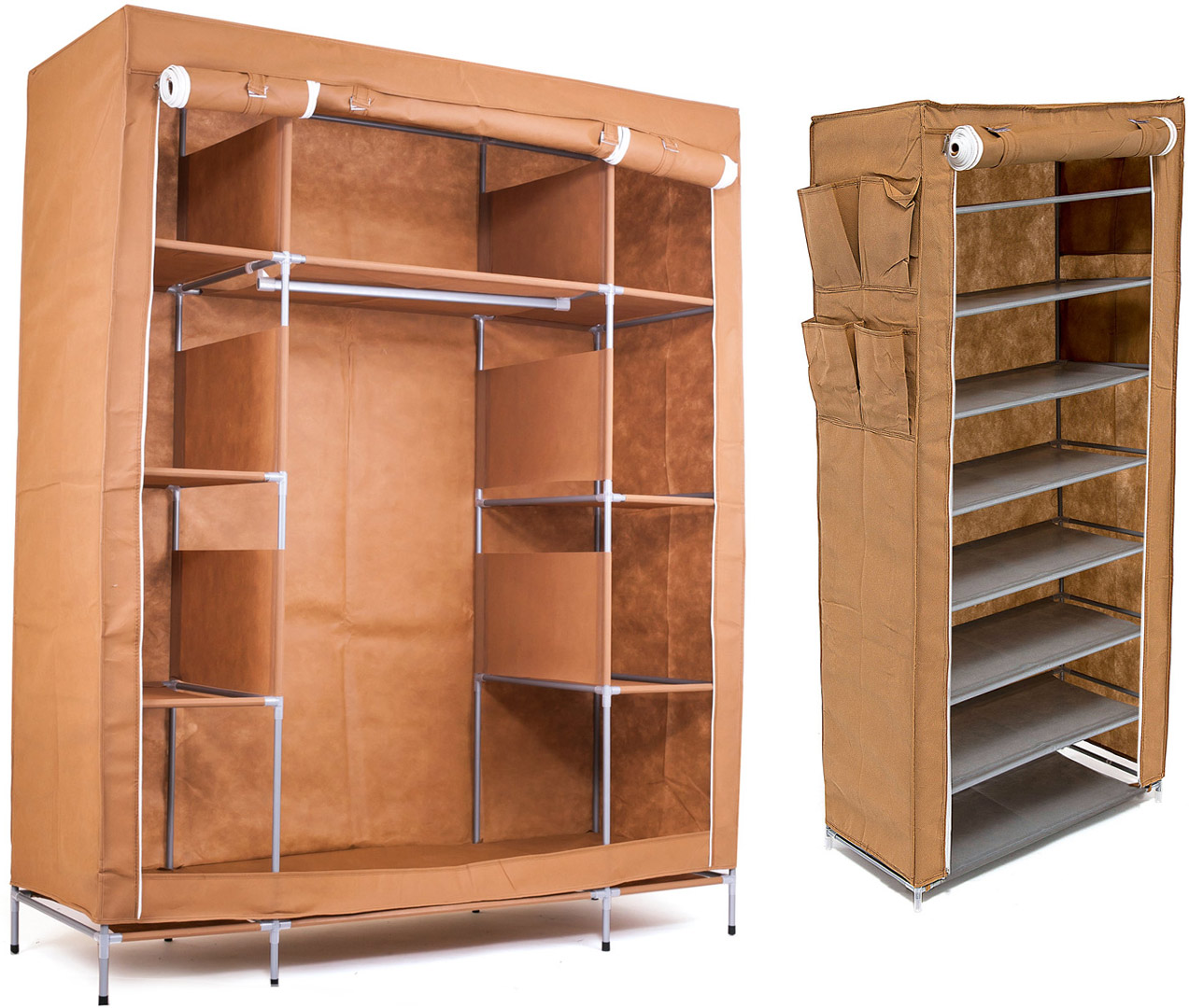 Набор кофров для хранения Homsu, цвет: коричневый, 2 шт12723Уникальный дизайн этого комплекта станет настоящим украшением для любого интерьера. Практичная составляющая подобной мебели также вне сомнений. Лёгкие и прочные устойчивые конструкции из каркасов и тканевой обивки могут быть легко собраны вами без посторонней помощи, буквально за несколько минут.Такая мебель будет всегда удобной и максимально практичной, ведь верхнюю тканевую часть при надобности можно всегда постирать либо же попросту поменять на аналогичную другого цвета. Кроме того, такие конструкции всегда будут отличным решением для того, кому по душе мобильность и постоянная смена обстановки. 1400х500х1750; 600х300х1360