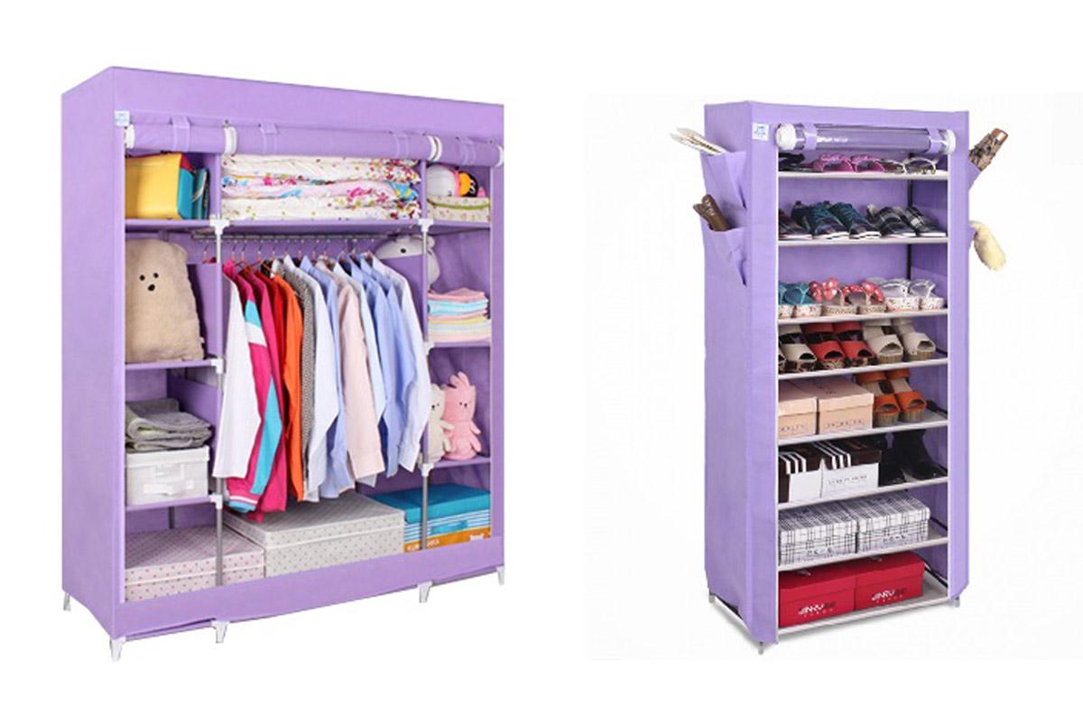 Набор кофров для хранения Homsu, цвет: фиолетовый, 2 штRG-D31SУникальный дизайн этого комплекта станет настоящим украшением для любого интерьера. Практичная составляющая подобной мебели также вне сомнений. Лёгкие и прочные устойчивые конструкции из каркасов и тканевой обивки могут быть легко собраны вами без посторонней помощи, буквально за несколько минут.Такая мебель будет всегда удобной и максимально практичной, ведь верхнюю тканевую часть при надобности можно всегда постирать либо же попросту поменять на аналогичную другого цвета. Кроме того, такие конструкции всегда будут отличным решением для того, кому по душе мобильность и постоянная смена обстановки. 1400х500х1750; 600х300х1360