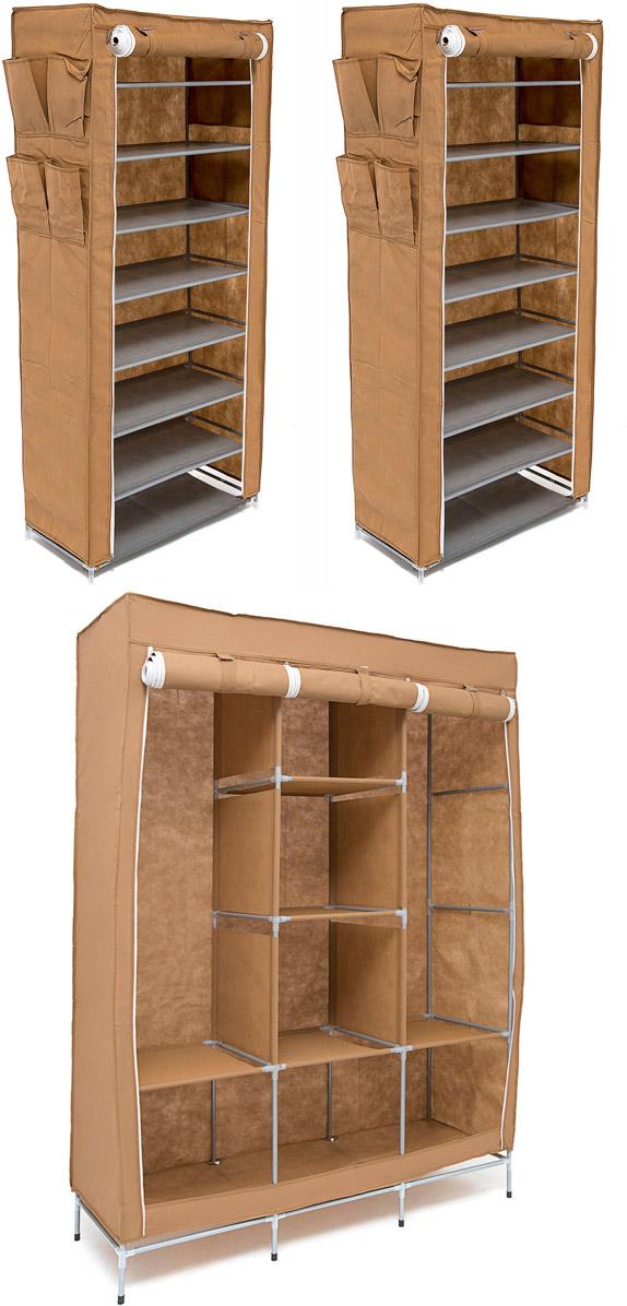 Набор кофров для хранения Идеальное хранение, цвет: коричневый, 3 штS03301004Уникальный дизайн этого комплекта станет настоящим украшением для любого интерьера. Практичная составляющая подобной мебели также вне сомнений. Лёгкие и прочные устойчивые конструкции из каркасов и тканевой обивки могут быть легко собраны вами без посторонней помощи, буквально за несколько минут.Такая мебель будет всегда удобной и максимально практичной, ведь верхнюю тканевую часть при надобности можно всегда постирать либо же попросту поменять на аналогичную другого цвета. Кроме того, такие конструкции всегда будут отличным решением для того, кому по душе мобильность и постоянная смена обстановки. 1300х450х1720; 600х300х1360; 600х300х1360