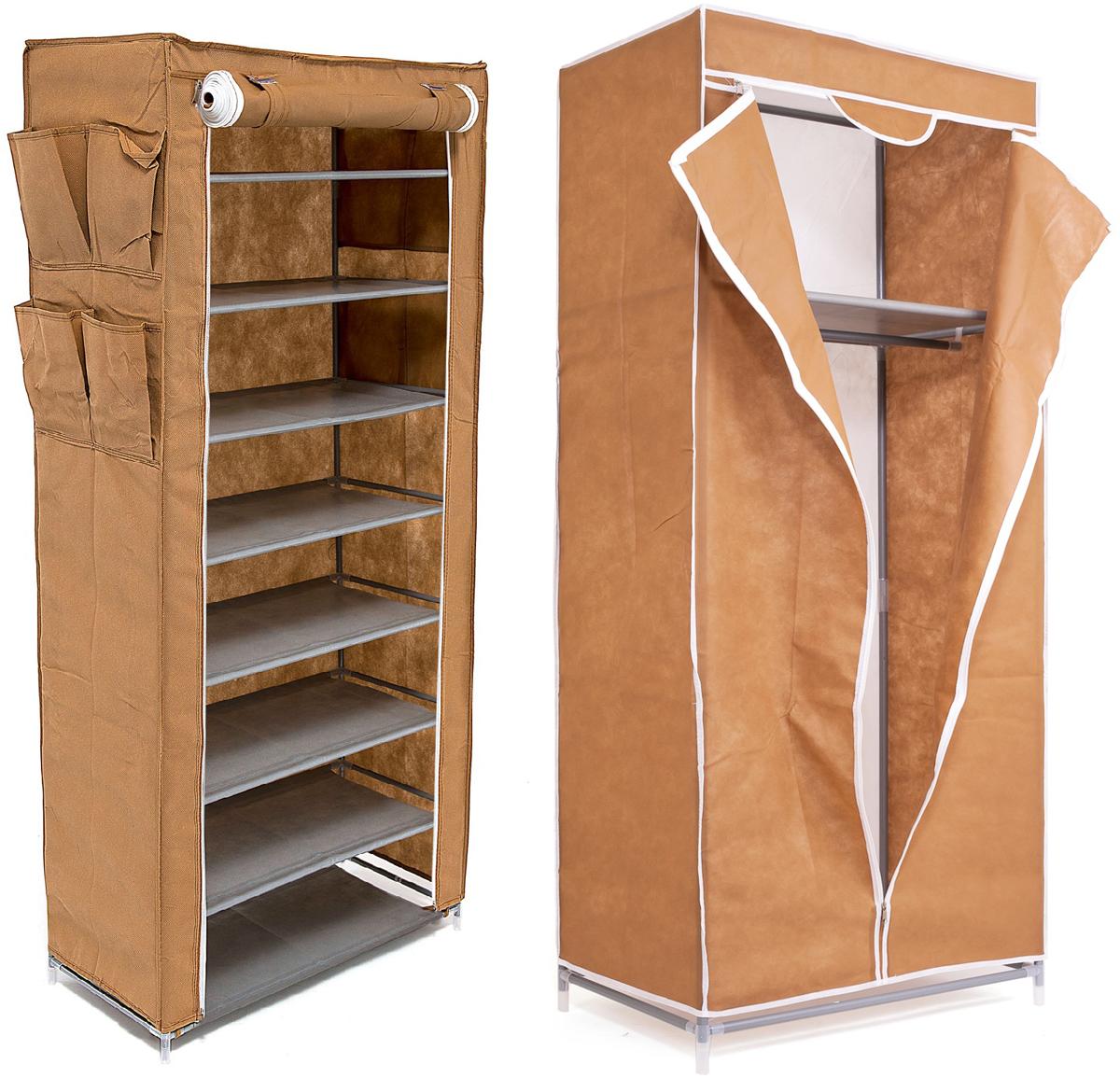 Набор кофров для хранения Homsu, цвет: коричневый, 2 предметаPANTERA SPX-2RSУникальный дизайн этого комплекта станет настоящим украшением для любого интерьера. Практичная составляющая подобной мебели также вне сомнений. Лёгкие и прочные устойчивые конструкции из каркасов и тканевой обивки могут быть легко собраны вами без посторонней помощи, буквально за несколько минут.Такая мебель будет всегда удобной и максимально практичной, ведь верхнюю тканевую часть при надобности можно всегда постирать либо же попросту поменять на аналогичную другого цвета. Кроме того, такие конструкции всегда будут отличным решением для того, кому по душе мобильность и постоянная смена обстановки. 680х450х1550; 600х300х1360
