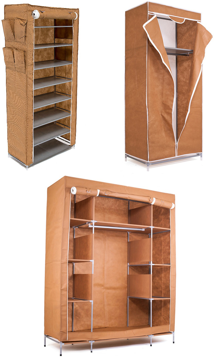 Гардеробная система хранения Homsu, цвет: коричневый, 3 предметаDEN-59Гардеробная система хранения выполнена из ткани, металла и пластика. Уникальный дизайн этого комплекта станет настоящим украшением для любого интерьера. Практичная составляющая подобной мебели также вне сомнений. Лёгкие и прочные устойчивые конструкции из каркасов и тканевой обивки могут быть легко собраны вами без посторонней помощи, буквально за несколько минут. Такая мебель будет отличным решением для того, кому по душе мобильность и постоянная смена обстановки. Размер модуля 1: 140 х 50 х 175 смРазмер модуля 2: 68 х 45 х 155 смРазмер модуля 3: 60 х 30 х 136 см.
