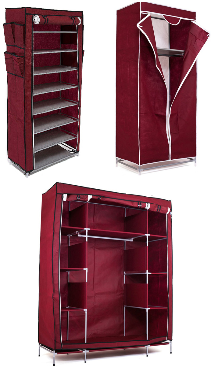 Набор кофров для хранения Homsu, цвет: бордовый, 3 предметаS03301004Уникальный дизайн этого комплекта станет настоящим украшением для любого интерьера. Практичная составляющая подобной мебели также вне сомнений. Лёгкие и прочные устойчивые конструкции из каркасов и тканевой обивки могут быть легко собраны вами без посторонней помощи, буквально за несколько минут.Такая мебель будет всегда удобной и максимально практичной, ведь верхнюю тканевую часть при надобности можно всегда постирать либо же попросту поменять на аналогичную другого цвета. Кроме того, такие конструкции всегда будут отличным решением для того, кому по душе мобильность и постоянная смена обстановки. 1400х500х1750; 680х450х1550; 600х300х1360