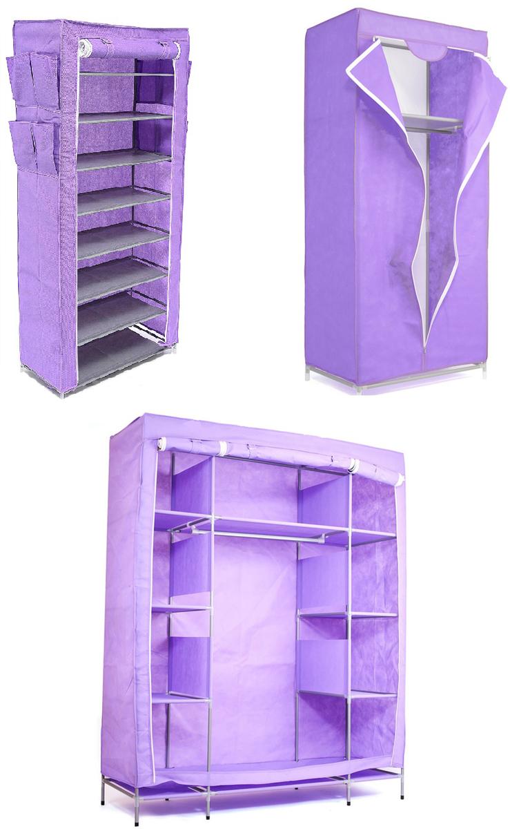Гардеробная система хранения Homsu, цвет: фиолетовый, 3 предметаDEN-61Гардеробная система хранения выполнена из ткани, металла и пластика. Уникальный дизайн этого комплекта станет настоящим украшением для любого интерьера. Практичная составляющая подобной мебели также вне сомнений. Лёгкие и прочные устойчивые конструкции из каркасов и тканевой обивки могут быть легко собраны вами без посторонней помощи, буквально за несколько минут. Такая мебель будет отличным решением для того, кому по душе мобильность и постоянная смена обстановки. Размер модуля 1: 140 х 50 х 175 смРазмер модуля 2: 68 х 45 х 155 смРазмер модуля 3: 60 х 30 х 136 см.