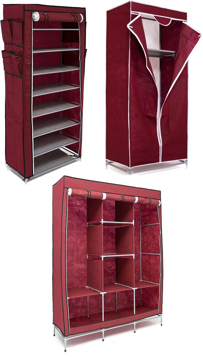 Набор кофров для хранения Homsu, универсальный, цвет: бордовый, 3 шт1004900000360Уникальный дизайн этого комплекта станет настоящим украшением для любого интерьера. Практичная составляющая подобной мебели также вне сомнений. Лёгкие и прочные устойчивые конструкции из каркасов и тканевой обивки могут быть легко собраны вами без посторонней помощи, буквально за несколько минут.Такая мебель будет всегда удобной и максимально практичной, ведь верхнюю тканевую часть при надобности можно всегда постирать либо же попросту поменять на аналогичную другого цвета. Кроме того, такие конструкции всегда будут отличным решением для того, кому по душе мобильность и постоянная смена обстановки. 1300х450х1720; 680х450х1550; 600х300х1360