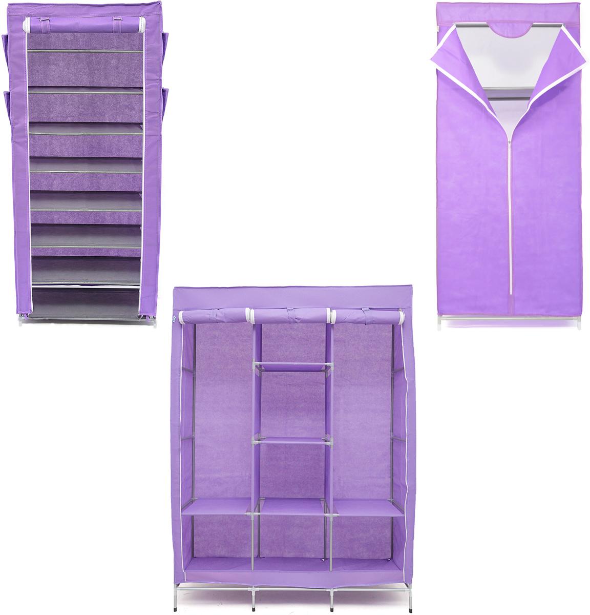 Набор кофров для хранения Homsu, универсальный, цвет: фиолетовый, 3 штS03301004Уникальный дизайн этого комплекта станет настоящим украшением для любого интерьера. Практичная составляющая подобной мебели также вне сомнений. Лёгкие и прочные устойчивые конструкции из каркасов и тканевой обивки могут быть легко собраны вами без посторонней помощи, буквально за несколько минут.Такая мебель будет всегда удобной и максимально практичной, ведь верхнюю тканевую часть при надобности можно всегда постирать либо же попросту поменять на аналогичную другого цвета. Кроме того, такие конструкции всегда будут отличным решением для того, кому по душе мобильность и постоянная смена обстановки. 1300х450х1720; 680х450х1550; 600х300х1360
