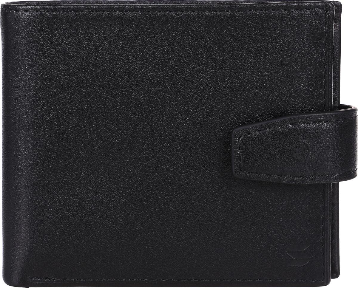 Портмоне мужское Soltan, цвет: черный. 101 01 01MX3024820_WM_SHL_010Портмоне Soltan выполнено из натуральной кожи и застегивается на хлястик с кнопкой, имеет два отделения для купюр, отделение для мелочи, 3 кармашка для карточек.