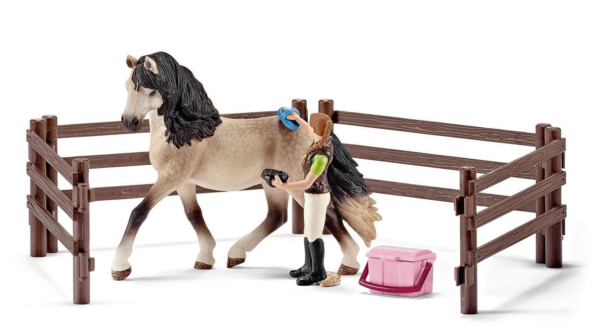Schleich Игровой набор для ухода за андалузской лошадью schleich игровой набор пещера со львом