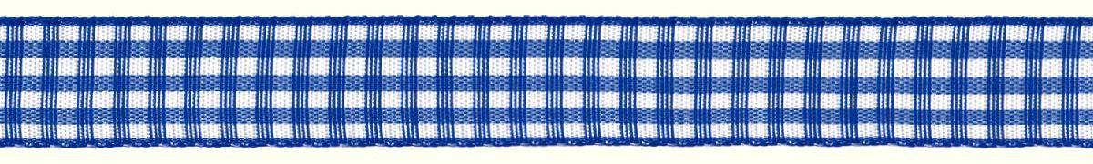 Лента декоративная Prym Клетка, цвет: белый, синий, 15 мм, 3 мRSP-202SЛента для украшения, поделок, оформления и упаковки подарков