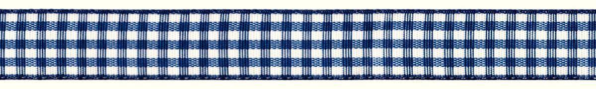 Лента декоративная Prym Клетка, цвет: белый, темно-синий, 15 мм, 3 мSS 4041Лента для украшения, поделок, оформления и упаковки подарков