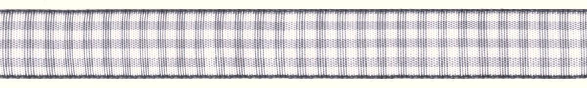 Лента декоративная Prym Клетка, цвет: белый, серый, 15 мм, 3 м09840-20.000.00Лента для украшения, поделок, оформления и упаковки подарков