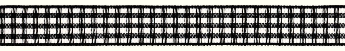 Лента декоративная Prym Клетка, цвет: белый, черный, 15 мм, 3 мNN-612-LS-PLЛента для украшения, поделок, оформления и упаковки подарков