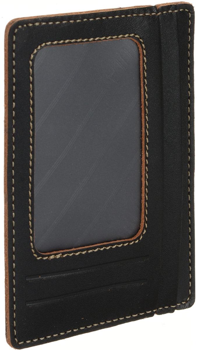 Бумажник водителя мужской Fabula Kansas, цвет: черный. BV.76.TXFJC50-63278Компактный бумажник водителя из коллекции «Kansas» выполнен из натуральной кожи. Вмещает необходимые документы, права и кредитные карты, при этом не занимает много места благодаря грамотной конструкции.Внутри 3 отделения для документов, 5 прорезных карманов для кредитных карт, карман-окно из прозрачного пластика.