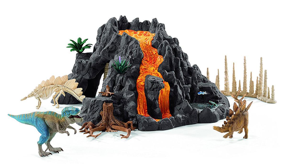 Schleich Игровой набор Гигантский вулкан с динозаврами schleich игровой набор кормление и уход за фризской лошадью