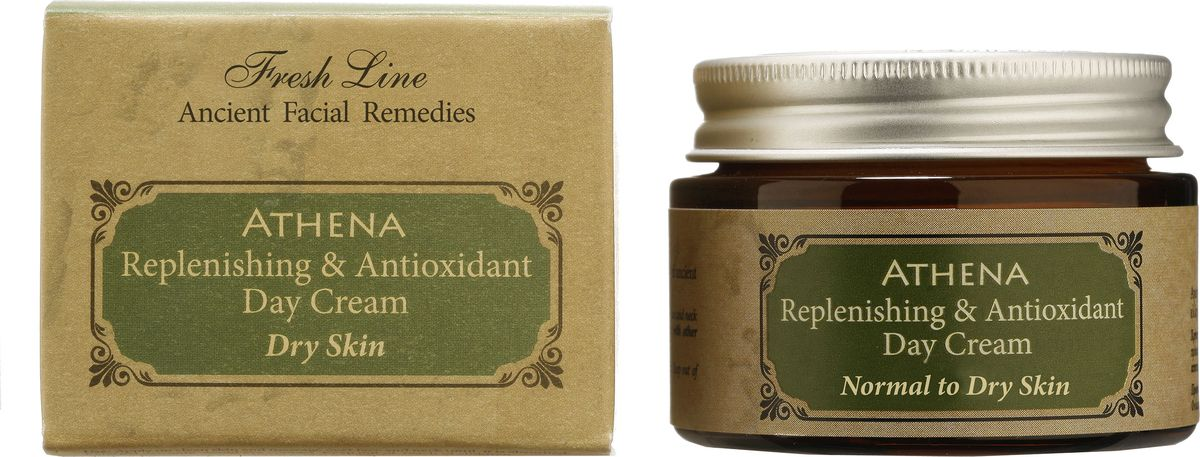 Fresh Line Крем дневной для лица Афина, 50 мл910423Питает, увлажняет, смягчает кожу, благодаря органическому греческому оливковому маслу. Экстракт листьев оливы обеспечивает антивозрастное и антиоксидантное действие. Натуральные масла ши и вечерней примулы придают эластичность, предотвращает появление морщин и пигментации. Быстро впитывается, т.к. в составе содержатся только натуральные масла и отсутствуют продукты нефтехимии. Подходит для нормальной, склонной к сухости коже.