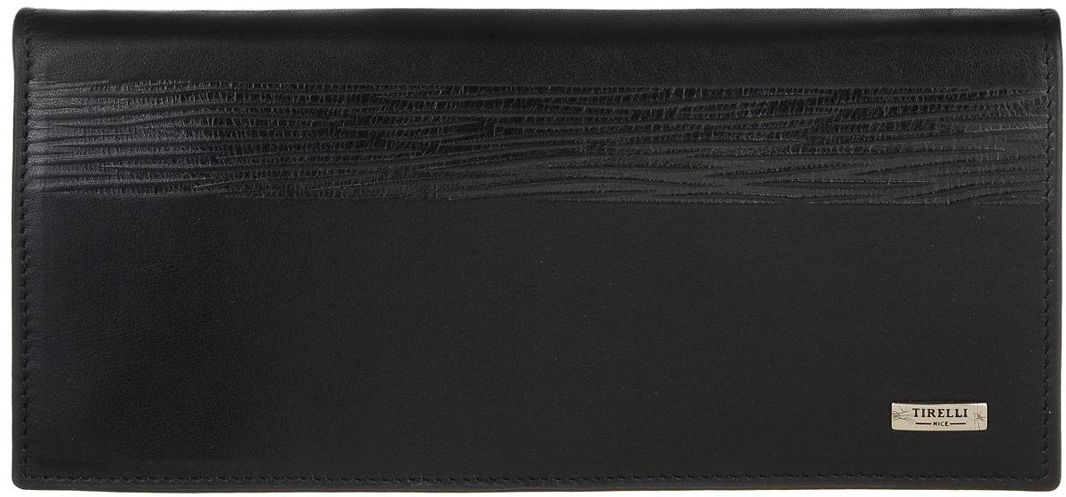 Портмоне мужское Tirelli, цвет: черный. 15-224-08INT-06501Портмоне мужское Tirelli изготовлено из натуральной кожи с матовой текстурой. Модель оформлена фирменным логотипом. Внутри имеется три отделения для купюр и одиннадцать прорезных кармашков для хранения пластиковых карт, визиток, дисконтных карт, окошко-сеточка для фото, одно отделение для бумаг и карман на застежке-молнии. Такое портмоне не только поможет сохранить внешний вид ваших документов и защитит их от повреждений, но и станет ярким аксессуаром, который подчеркнет ваш образ.