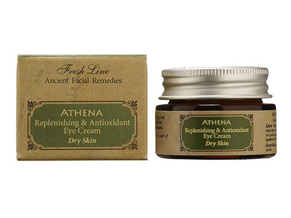 Fresh Line Крем для кожи вокруг глаз Афина, 15 мл67101001Удерживает влагу в глубоких слоях кожи, уменьшает существующие морщины и предотвращает появление новых . Антиоксиданты и витамины защищают кожу от негативного воздействия свободных радикалов. Крем обладает легкой текстурой и быстро впитывается, т.к. в составе содержатся только натуральные масла и отсутствуют продукты нефтехимии. Может применяться утром и вечером. Подходит для нормальной и склонной к сухости кожи.