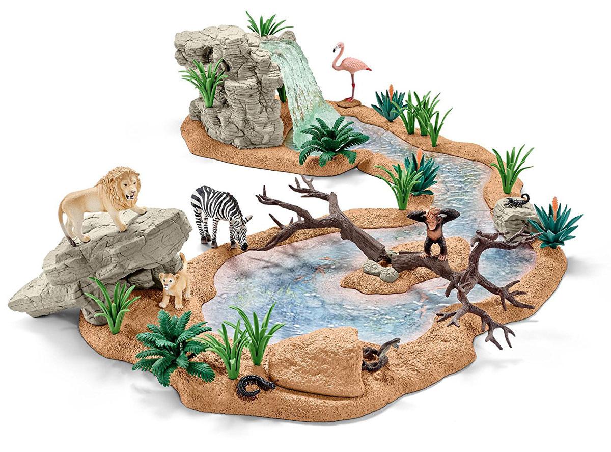 Schleich Игровой набор Заводь с животными schleich игровой набор водопад