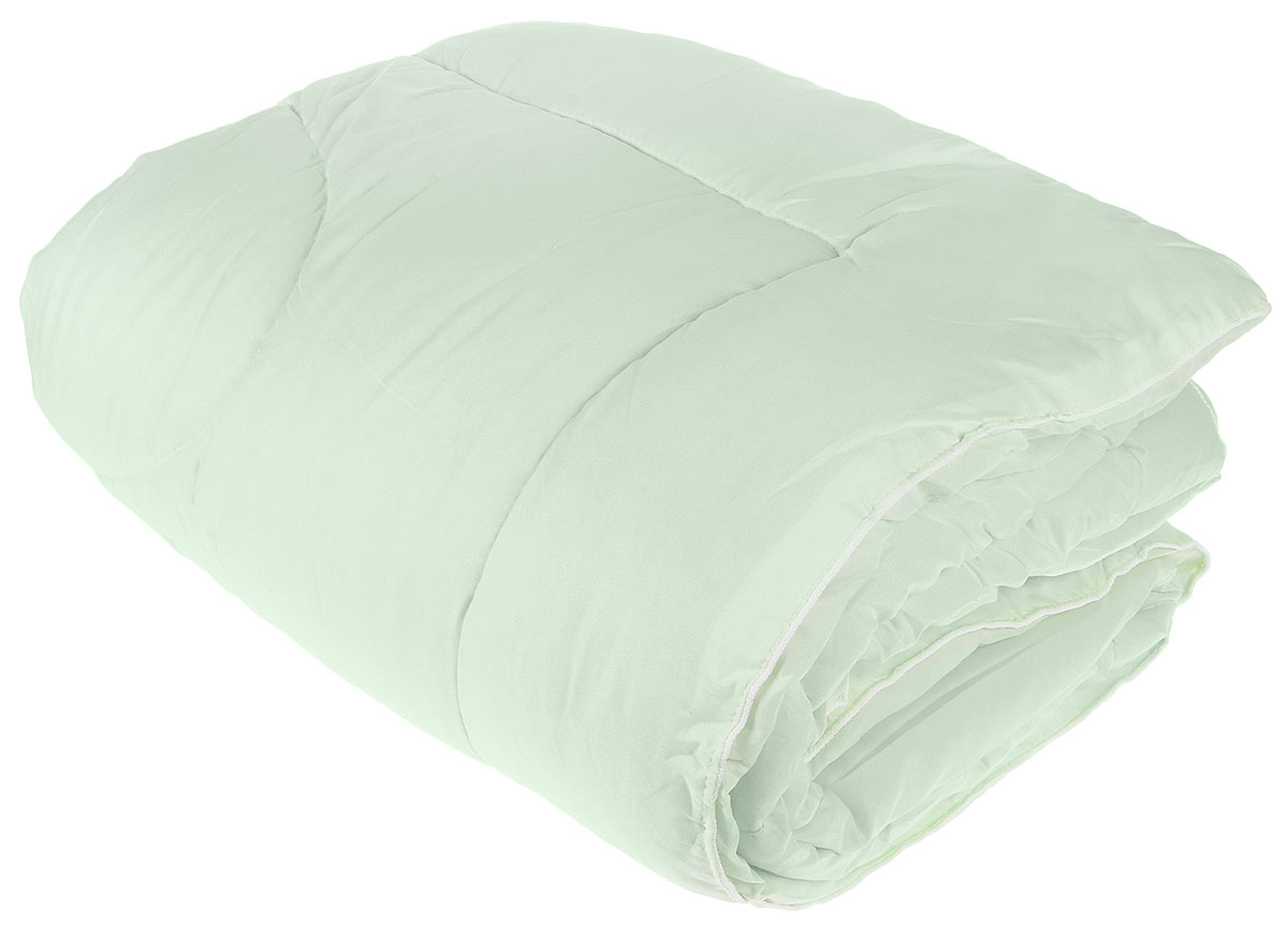 Одеяло Lara Home Bamboo, всесезонное, наполнитель: силиконизированное волокно, цвет: зеленый, 200 х 220 смwlr219050Одеяло Lara Home Bamboo подарит комфорт и уют во время сна. Чехол, выполненный из микрофибры (100% полиэфира), оформлен стежкой и надежно удерживает наполнитель внутри. Наполнитель выполнен из силиконизированного волокна.Особенности одеяла:Гипоаллергенные материалы.Необычайная мягкость и легкость.Обеспечивает хорошую терморегуляцию.Обладает расслабляющим эффектом.Препятствует развитию болезнетворных бактерий.Способствует хорошему отдыху.