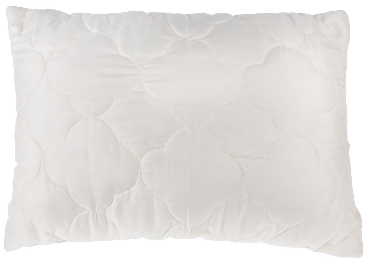 Подушка Lara Home Wool, наполнитель: овечья шерсть и силиконизированное волокно, цвет: бежевый, 48 х 68 см00-00001167Подушка Lara Home Wool подарит комфорт и уют во время сна. Чехол,выполненный из микроволокна (100% полиэфира), оформлен фигурной стежкой и надежно удерживает наполнитель внутри. Наполнитель выполнен из силиконизированного волокна и овечьей шерсти породы меринос.Особенности подушки: Высокая воздухопроницаемость.Необычайная мягкость и легкость.Обеспечивает хорошую терморегуляцию.